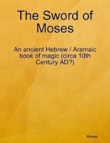 Cover of Moses Gaster's Book The Sword Of Moses An Ancient Hebrew Aramaic Book Of Magic