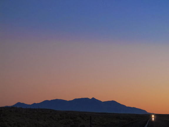 Henry Mountains at twilight