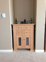 28″ x 36″ x 27″ Hagen Entertainment Center in Natural Oak