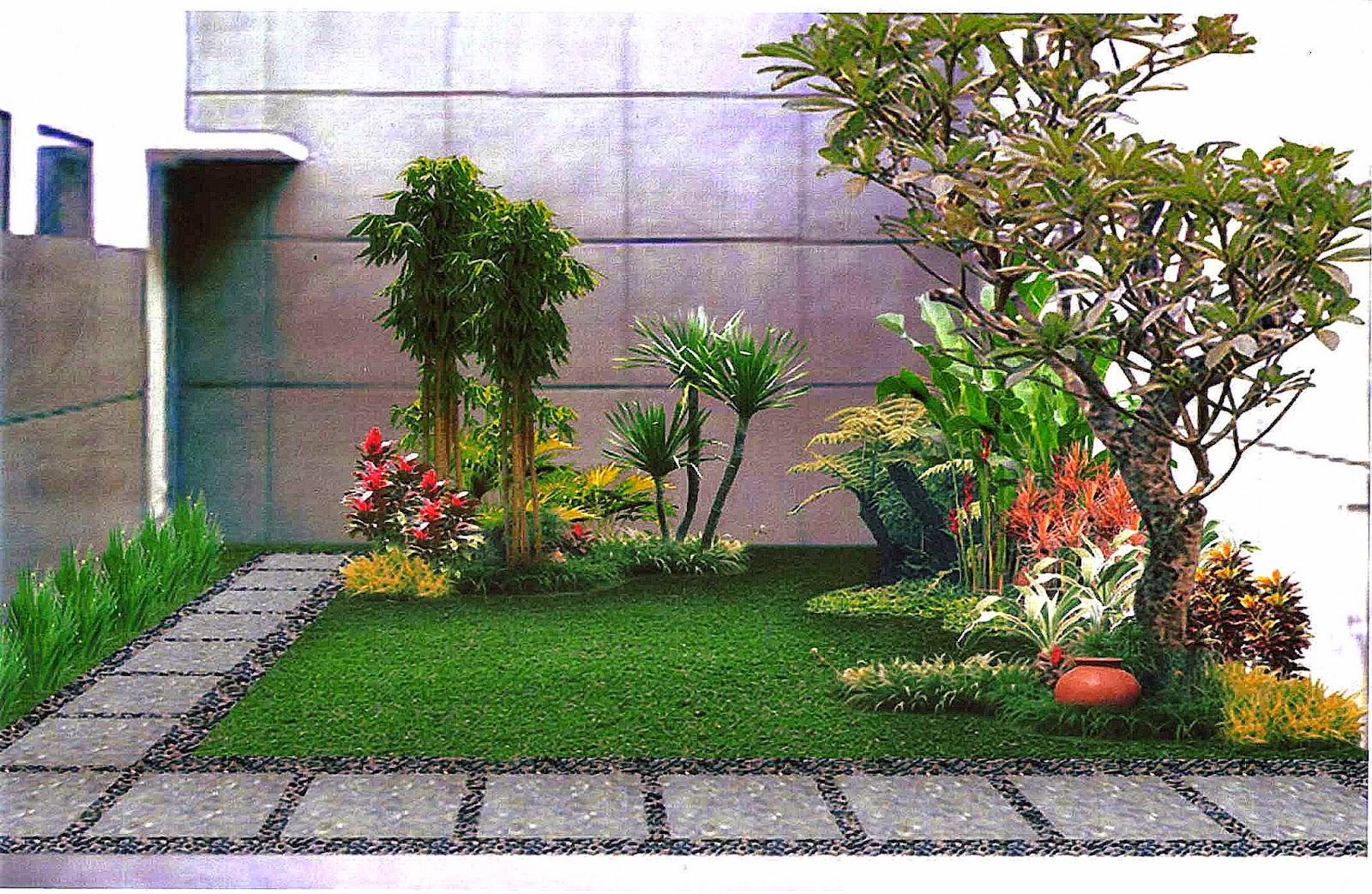desain taman minimalis dibelakang rumah gallery taman