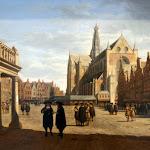 Gerrit Adriaensz Berckheyde - La place du Grand Marché à Haarlem vers l'égise Saint-Bavon (1673)