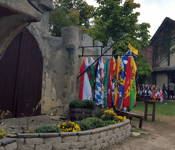 F is for flags. From the Ohio Renaissance Festival, A-Z