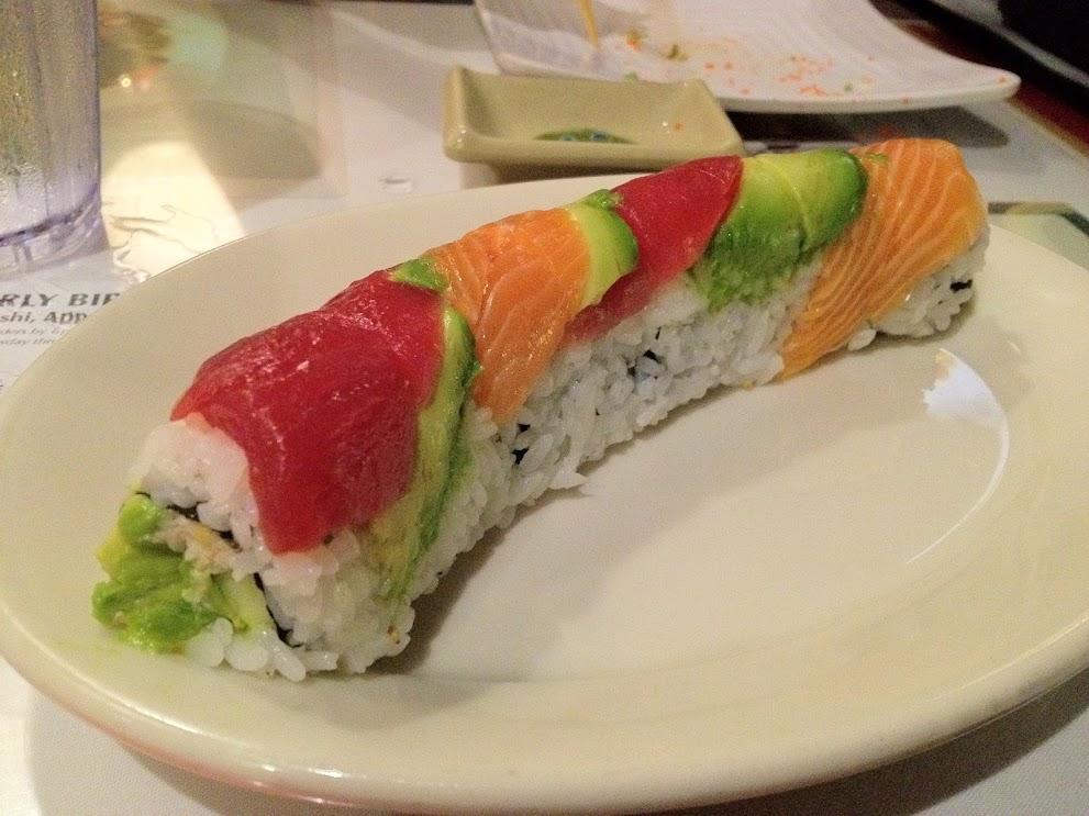 Rainbow Roll from Sansei