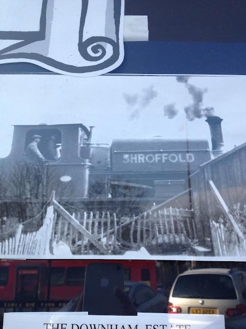 Downham estate Shroffold train engine