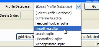 Escogiendo una base de datos con SQLite Manager