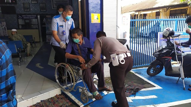 Pelayanan Publik Polda Jatim Ramah Kaum Disabilitas
