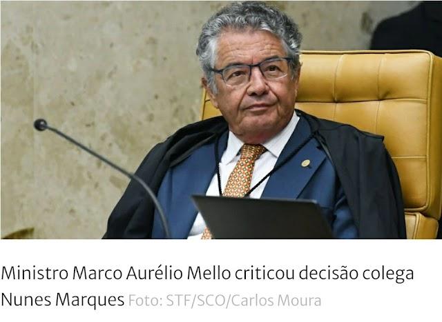 Ministro Marco Aurélio critica Kassio por reabrir igrejas: 'Pobre Supremo'