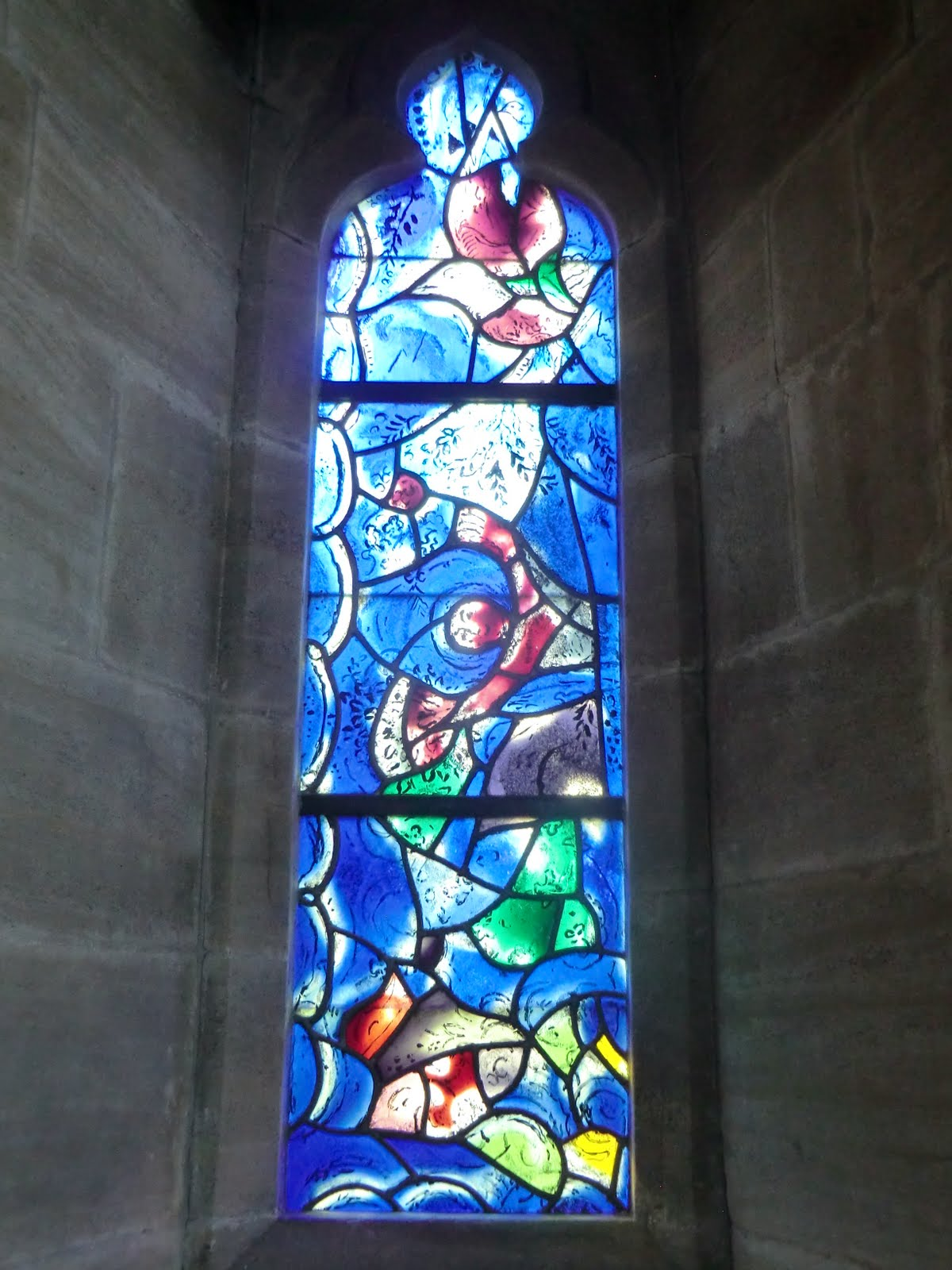 CIMG1565 Chagall window #7, All Saints church