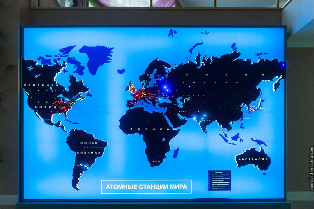АЭС га карте мира