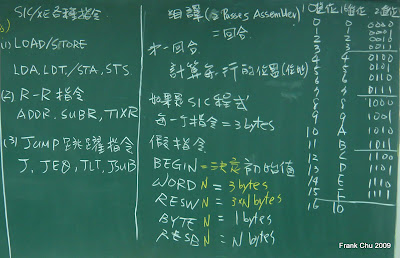 系統程式復習:各種SIC/XE指令及組譯器址列位置計算