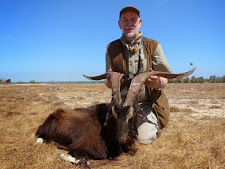Mr Peter Erichsen, Germany with a big wild goat, 36 inches