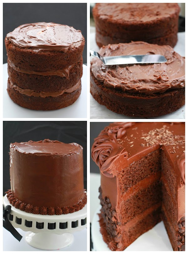 Ultimate Triple Chocolate Layer Cake is super decadent and delicious.jpg