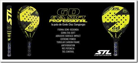 La pala del jugador Godo Díaz Sangiorgio GD Eva Soft para este 2016