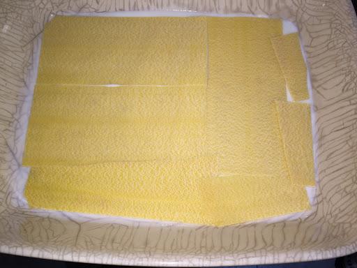 Place lasagne sheets