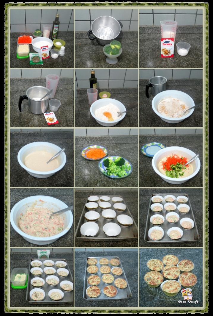 Muffin de brócolis e cenoura 3