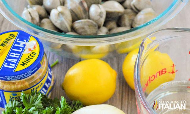 steamed clams ingredients