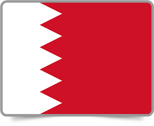Bahraini framed flag icons with box shadow