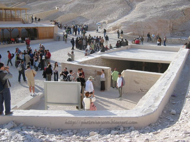 Entrada tumba de Tutankamón