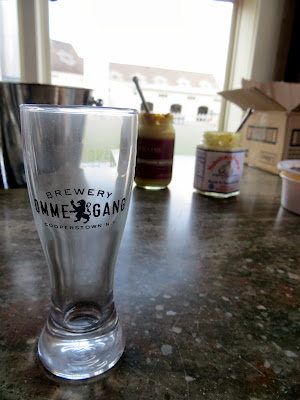 For $5 we tasted 6 beers at Ommegang Brewery, and we got to keep the tasting glass so it's so well worth it.
