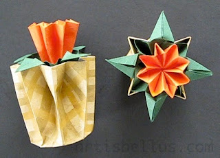 Kusudama Flower and Pot - New Video