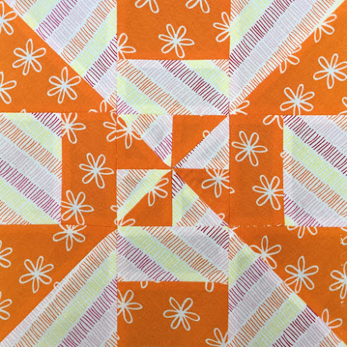 Block 2 - Disappearing pinwheel quilt sampler