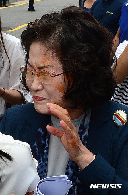 김태현 화해치유재단 이사장 캡사이신 분사