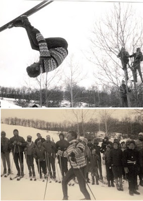 Stein Eriksen ski flip demonstration in 1963