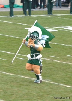 Sparty leading the team