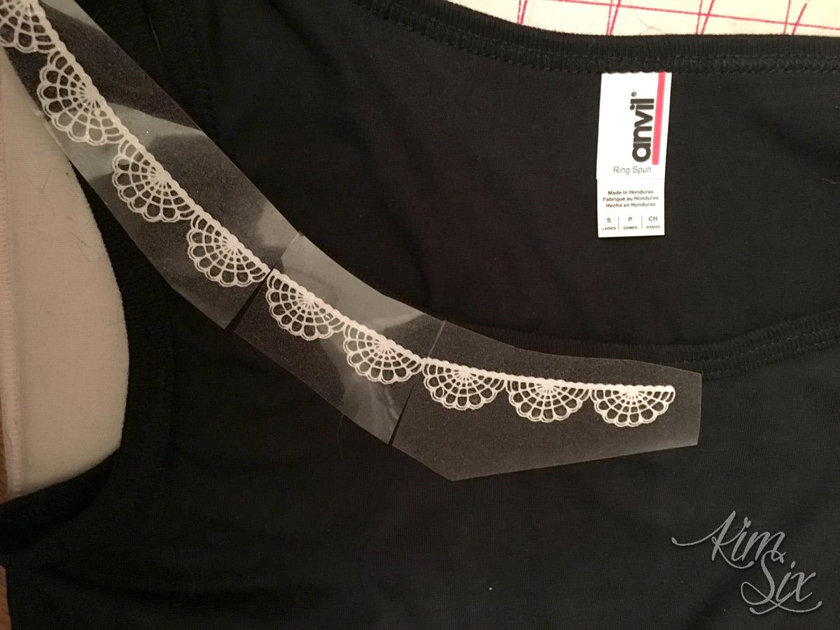 Spider web collar HTV pattern