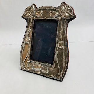Sterling Silver Floral Picture Frame