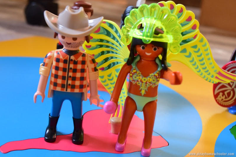 South America Continent Mini People Figures