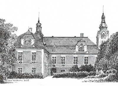 Pałac w Czerńcu – stan przed 1945 r.