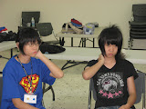 Yu-wen and Yu-han, sisters from the Ankeng church at 2009 Sports and English Camp