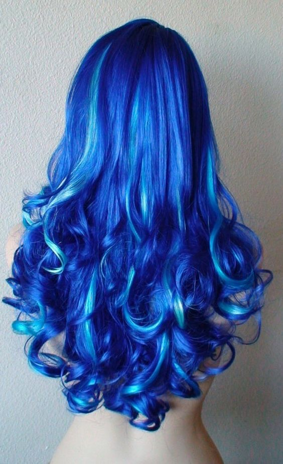 Blue Hairstyles For long Hair-It Is Different 2017 6