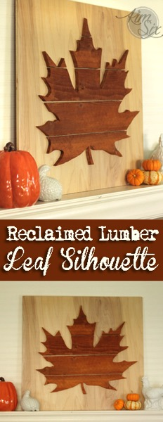 Reclaimed Lumber Leaf Silhouette Sign