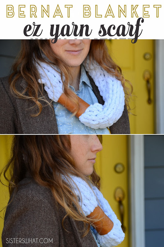bernat blanket ez yarn scarf