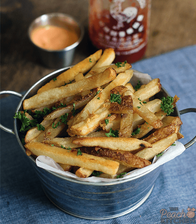Baked Garlic Parmesan Fries For #USPotatoesForACause