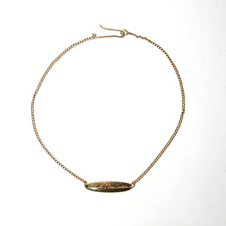 14K Gold Newborn's Necklace