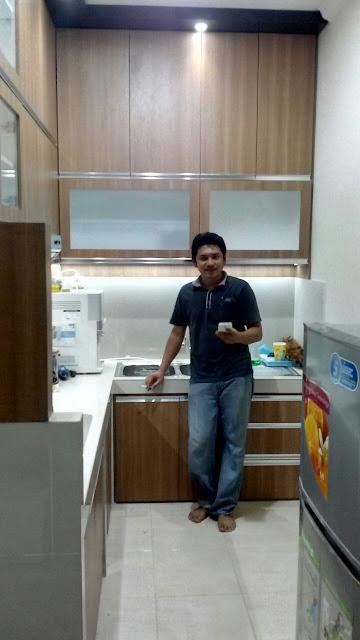 Kitchen Set Minimalis Dapur Kecil Cengkaren Jakarta Barat