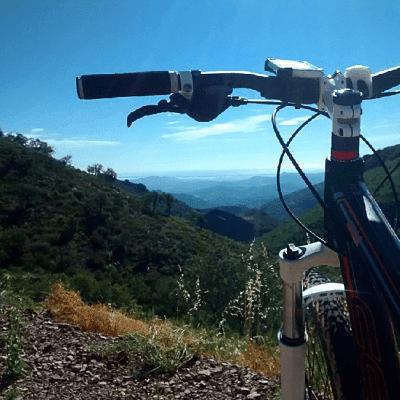 mountain bike desde alto montaña