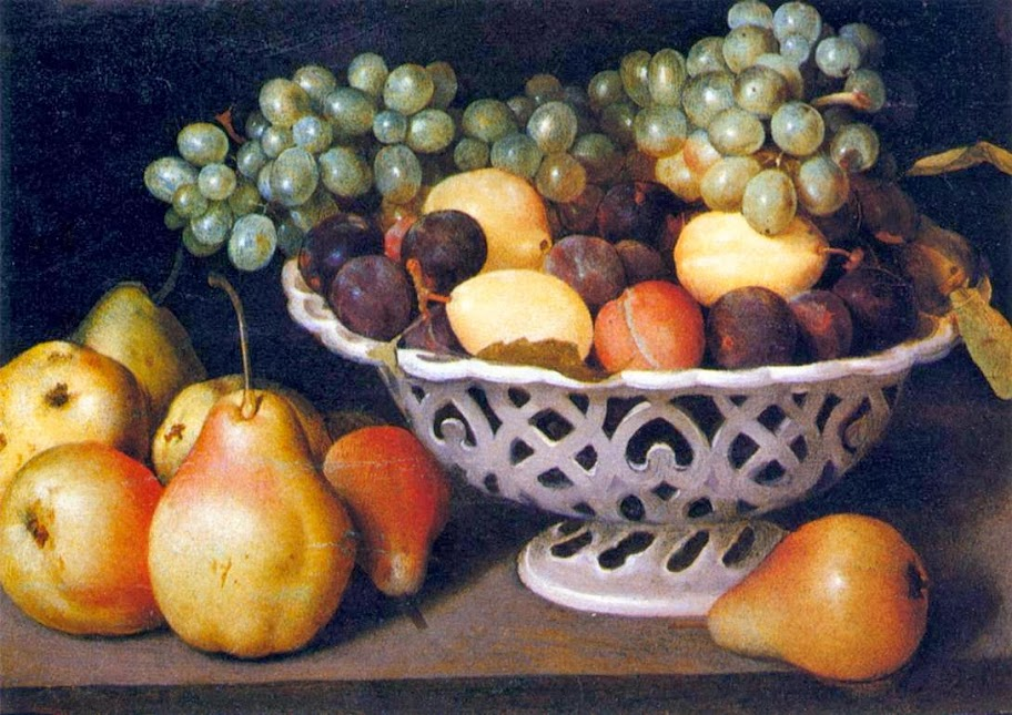 Fede Galizia - Maiolica Basket of Fruit