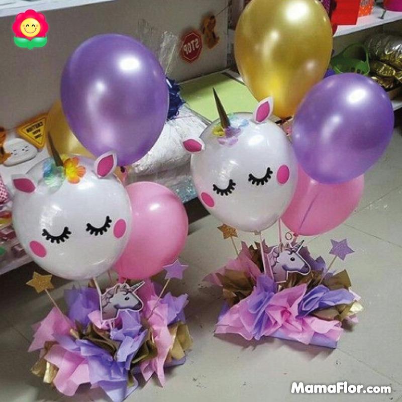 centros de mesa unicornios fiesta 18