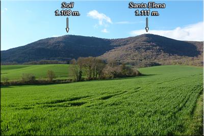 Vista desde La Llanada de Santa Elena y Soil