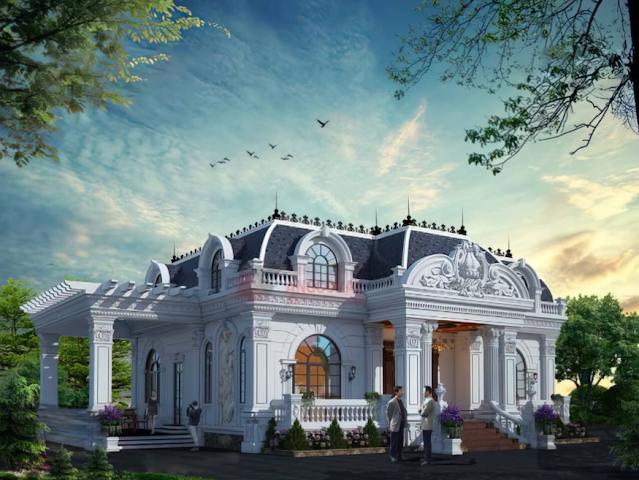 Chiêm ngưỡng biệt thự cổ điển diện tích 300m2 tại Hạ Long
