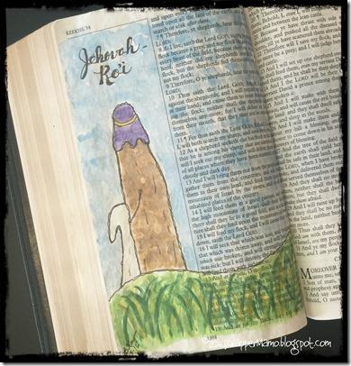 Bible Art Jehovah Rohi