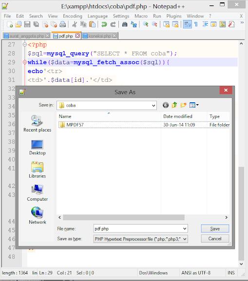Contoh PHP PDF