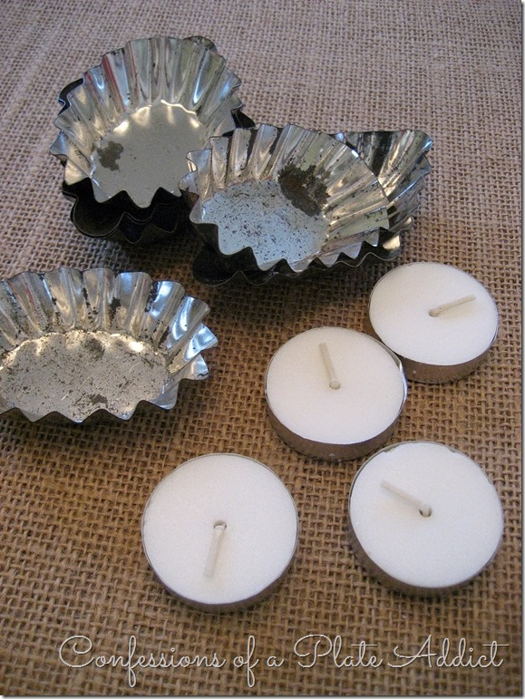 CONFESSIONS OF A PLATE ADDICT DIY Vintage Tartlet Tealights supplies