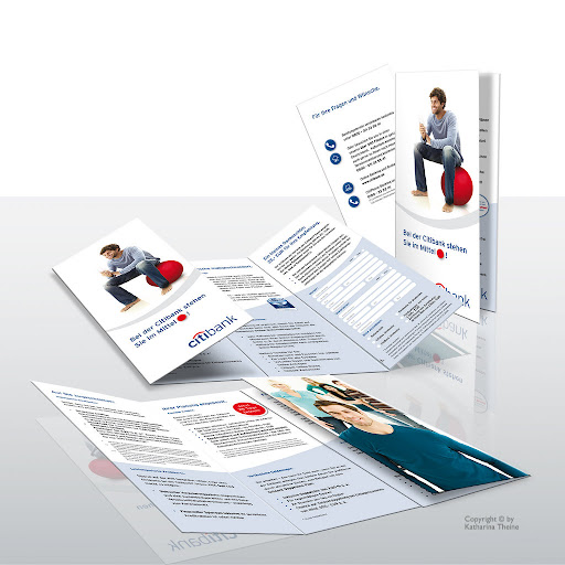 Info-Brolder (Citibank). Copyright © by Katharina Theine