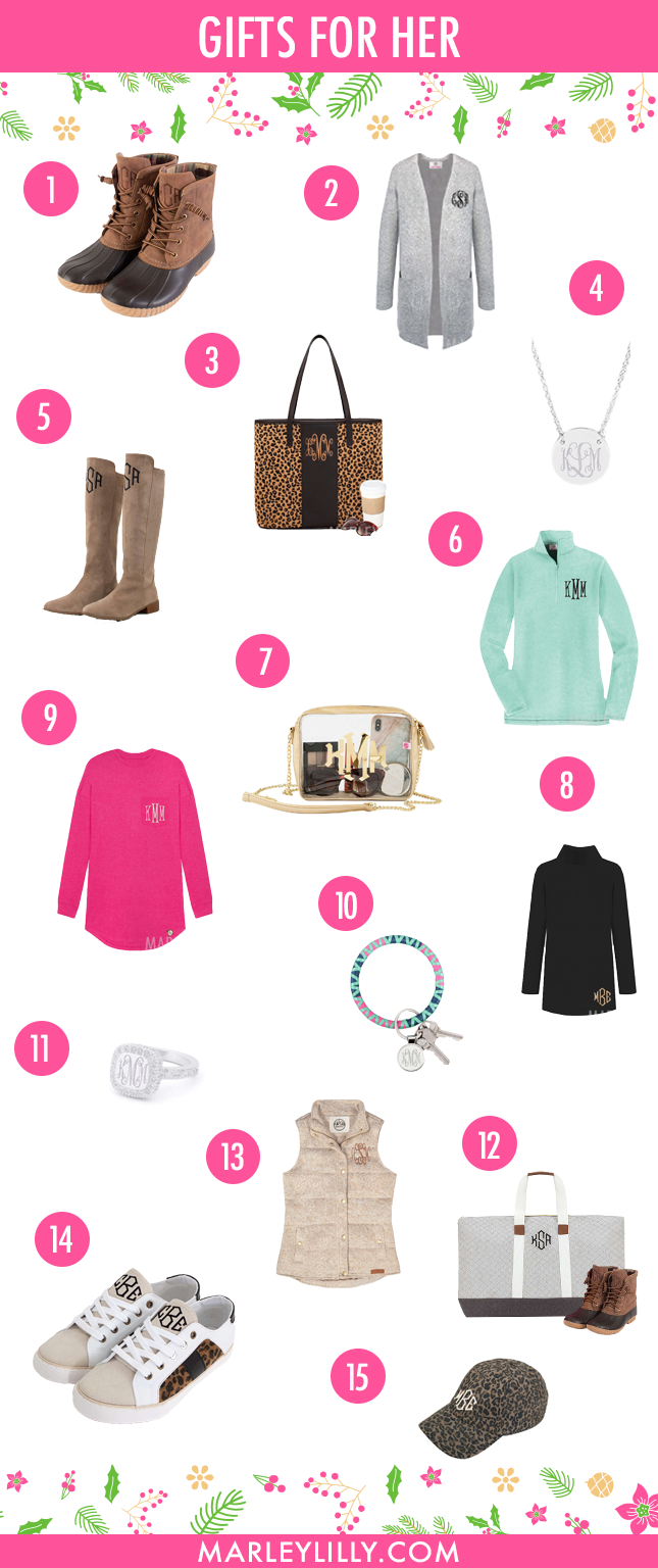 Gifts for Her on Marleylilly.com
