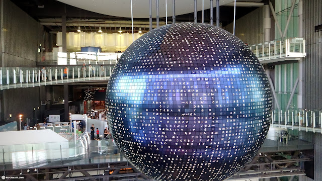 giant globe at the Miraikan Museum of Emerging Science and Innovation in Odaiba, Tokyo, Japan